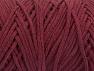 Fiber Content 100% Cotton, Brand ICE, Burgundy, Yarn Thickness 5 Bulky  Chunky, Craft, Rug, fnt2-60172