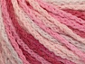 Fiber Content 50% Acrylic, 50% Polyamide, White, Pink Shades, Brand ICE, Yarn Thickness 4 Medium  Worsted, Afghan, Aran, fnt2-60360