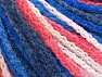 Fiber Content 50% Acrylic, 50% Polyamide, White, Salmon, Brand ICE, Blue Shades, Yarn Thickness 4 Medium  Worsted, Afghan, Aran, fnt2-60362
