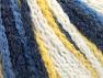 Fiber Content 50% Polyamide, 50% Acrylic, Yellow, White, Navy, Brand ICE, Blue, Yarn Thickness 4 Medium  Worsted, Afghan, Aran, fnt2-60441
