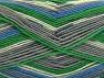 Fiber Content 75% Superwash Wool, 25% Polyamide, White, Brand ICE, Grey Shades, Green, Blue, Yarn Thickness 1 SuperFine  Sock, Fingering, Baby, fnt2-60904