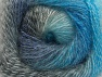 Fiber Content 75% Premium Acrylic, 15% Wool, 10% Mohair, Turquoise, Brand ICE, Grey Shades, Blue, fnt2-61004