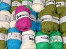 Paper This mixed lot includes a total of 1000 gr yarn. There is no standard for ball weight. Also disregard any information on the labels. You will get what you see in the photo. Brand ICE, fnt2-61416