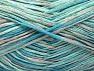 Fiber Content 100% Acrylic, Turquoise Shades, Light Grey, Brand ICE, fnt2-62205