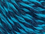 Fiber Content 55% Acrylic, 45% Wool, Turquoise, Navy, Brand ICE, fnt2-62722