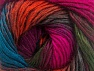 This is a self-striping yarn. Please see package photo for the color combination. Fiber Content 100% Premium Acrylic, Turquoise, Brand ICE, Fuchsia, Dark Green, Copper, Burgundy, fnt2-62908