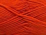 Fiber Content 55% Cotton, 45% Acrylic, Orange, Brand ICE, Yarn Thickness 4 Medium  Worsted, Afghan, Aran, fnt2-63098