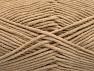 Fiber Content 55% Cotton, 45% Acrylic, Brand ICE, Beige, Yarn Thickness 4 Medium  Worsted, Afghan, Aran, fnt2-63101