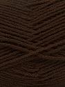 Fiber Content 100% Acrylic, Brand ICE, Dark Brown, Yarn Thickness 3 Light  DK, Light, Worsted, fnt2-39100