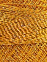 Fiber Content 70% Polyester, 30% Metallic Lurex, Yellow, Brand ICE, Gold, Yarn Thickness 0 Lace  Fingering Crochet Thread, fnt2-40704