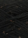 Fiber Content 72% Acrylic, 3% Viscose, 25% Wool, Brand ICE, Black, Yarn Thickness 6 SuperBulky  Bulky, Roving, fnt2-40833