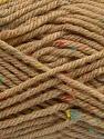 Fiber Content 72% Acrylic, 3% Viscose, 25% Wool, Latte, Brand ICE, Yarn Thickness 6 SuperBulky  Bulky, Roving, fnt2-40837