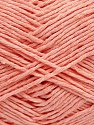 Please note that the yarn weight and the ball length may vary from one color to another for this yarn. Fiber Content 100% Cotton, Light Salmon, Brand ICE, Yarn Thickness 3 Light  DK, Light, Worsted, fnt2-40917