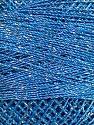 Fiber Content 70% Polyester, 30% Metallic Lurex, Silver, Brand ICE, Blue, Yarn Thickness 0 Lace  Fingering Crochet Thread, fnt2-41695