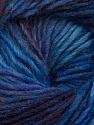 Fiber Content 70% Dralon, 30% Wool, Purple, Maroon, Brand ICE, Blue Shades, Yarn Thickness 4 Medium  Worsted, Afghan, Aran, fnt2-42697