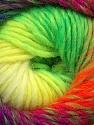Fiber Content 70% Dralon, 30% Wool, Purple, Neon Yellow, Neon Orange, Neon Green, Navy, Brand ICE, Yarn Thickness 4 Medium  Worsted, Afghan, Aran, fnt2-42704