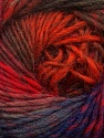 Fiber Content 70% Dralon, 30% Wool, Red, Purple, Orange, Brand ICE, Brown, Blue, Yarn Thickness 4 Medium  Worsted, Afghan, Aran, fnt2-42770