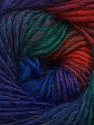 Fiber Content 70% Dralon, 30% Wool, Brand Ice Yarns, Green, Copper, Blue Shades, Yarn Thickness 4 Medium  Worsted, Afghan, Aran, fnt2-42773