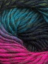 Fiber Content 100% Wool, Turquoise, Brand ICE, Fuchsia, Black, Yarn Thickness 4 Medium  Worsted, Afghan, Aran, fnt2-43066