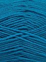 Fiber Content 55% Virgin Wool, 5% Cashmere, 40% Acrylic, Turquoise, Brand ICE, Yarn Thickness 2 Fine  Sport, Baby, fnt2-47161