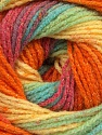 Fiber Content 95% Acrylic, 5% Lurex, Yellow, Turquoise, Salmon, Orange, Lilac, Brand ICE, Green, Yarn Thickness 3 Light  DK, Light, Worsted, fnt2-48134