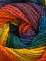 Fiber Content 95% Acrylic, 5% Lurex, Yellow, Teal, Purple, Orange, Brand ICE, Green, Blue, Yarn Thickness 3 Light  DK, Light, Worsted, fnt2-48182