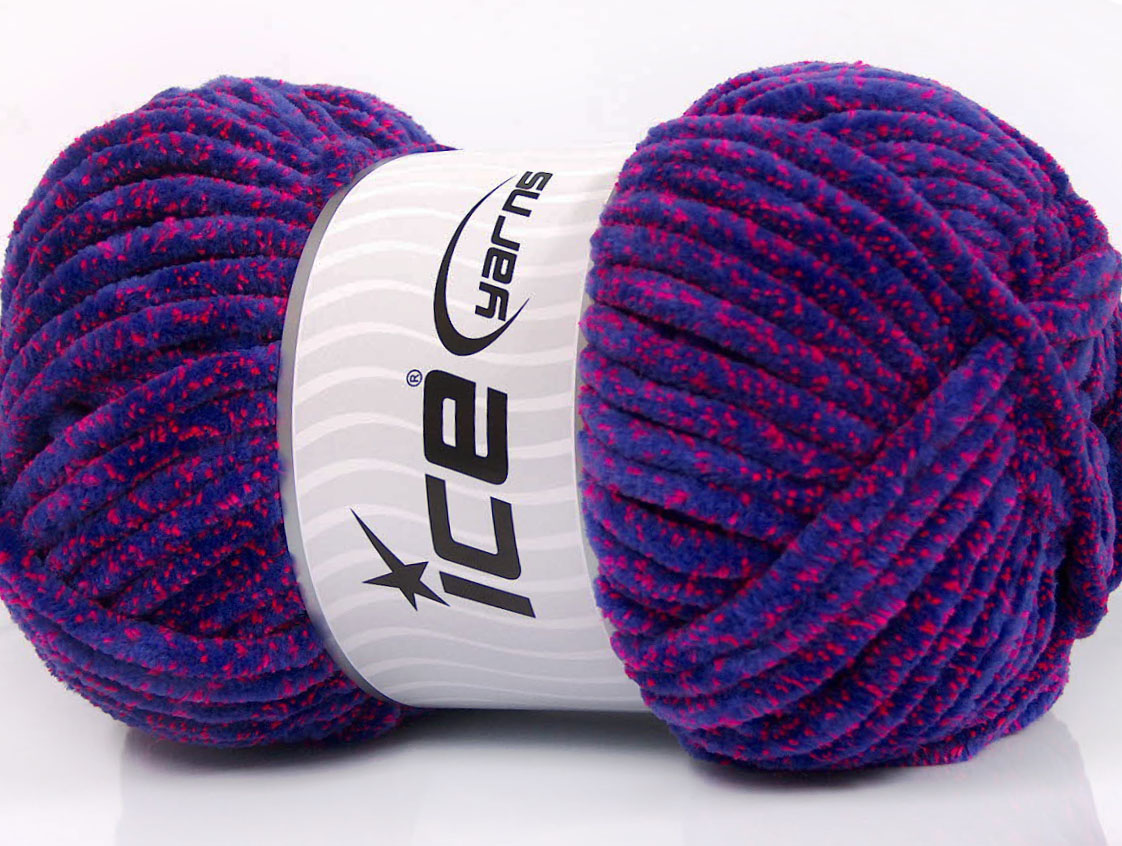 Chenille Lights Purple Neon Pink