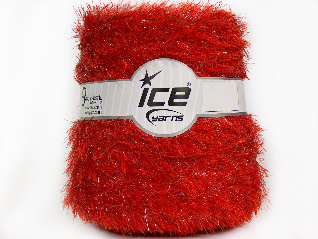 Metallic Yarns Eyelash Lurex [Cone] Tomato Red