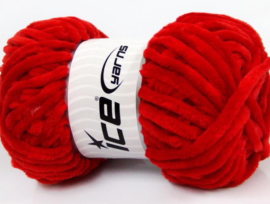 Velvet Chenille Red