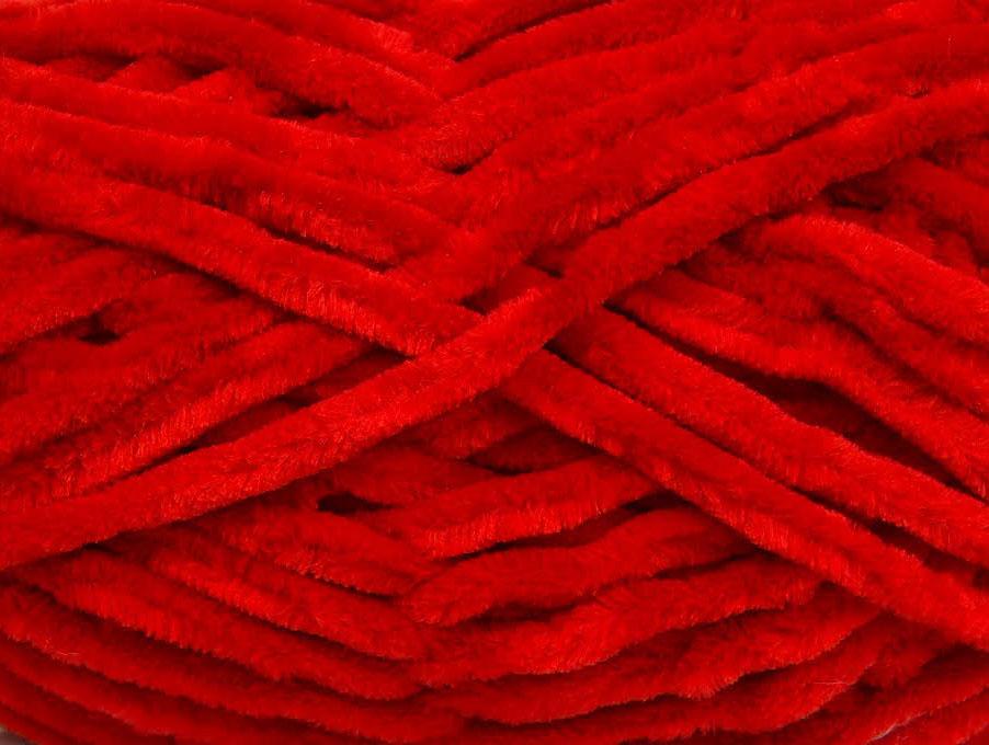Velvet Chenille Red, Chenille Yarns | Yarn Paradise