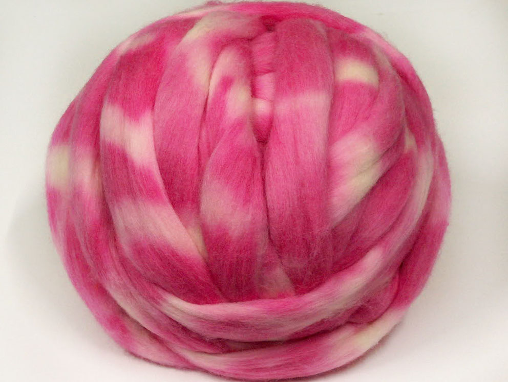 Hand Dyed Giant Wool Pink Shades